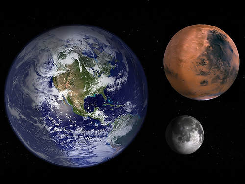 Earth-Moon-Mars-Scale