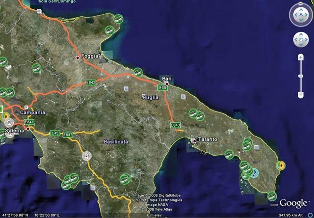 Cartina Puglia Google Maps.Nasce Ufo Google Maps Puglia A Cura Del Centro Ufologico Taranto Cut Centro Ufologico Taranto